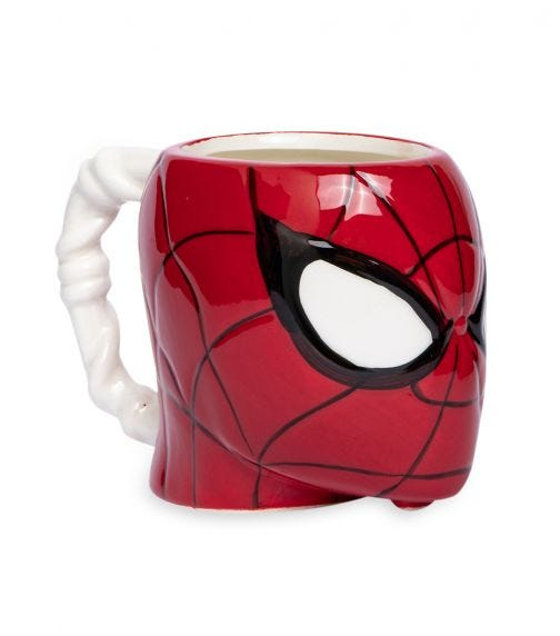 SPIDERMAN Ceramic Dolomite 3D-Head Mug - Spiderman 414 ML