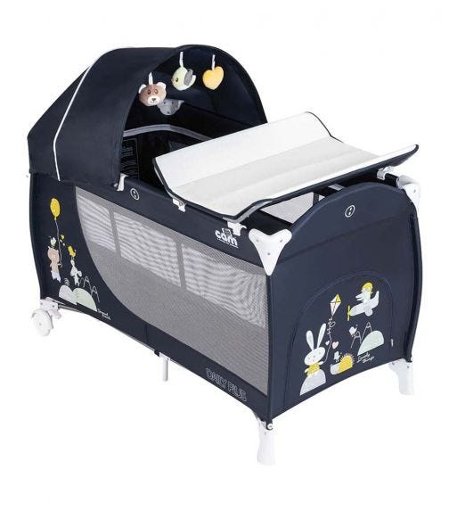 CAM - Daily Plus Travel Cot - Navy Blue