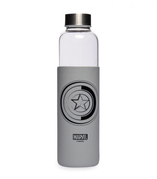 AVENGERS Glass Bottle With Silicone Cover 585 ML