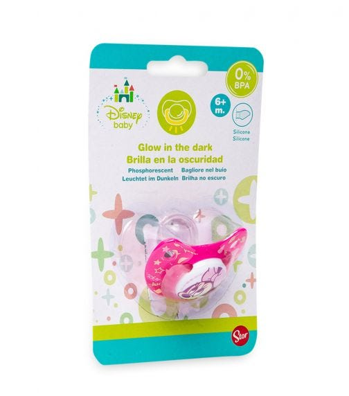 MINNIE Baby Orthodontic Silicone Pacifier (0-6M)