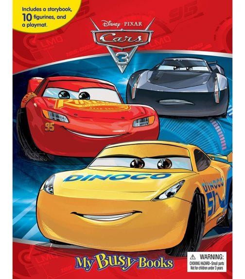 PHIDAL Disney Cars 3 My Busy Book