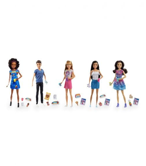 BARBIE Skipper Babysitters Doll With Accessories