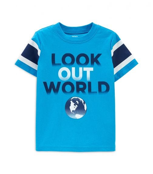 CARTER'S Look Out World Jersey Tee
