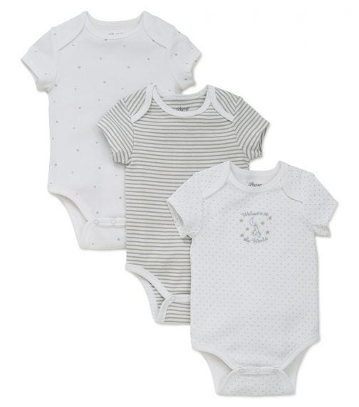 LITTLE ME 3-Pack Welcome To The World Bodysuit