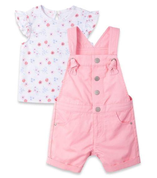 LITTLE ME Pink Shortall Set