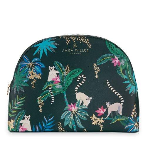 SARA MILLER Tahiti Dark Green Cosmetic Makeup Bag (Large)
