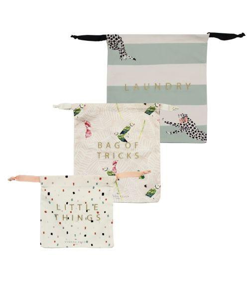 YVONNE ELLEN Cotton Bags Cockatoo Cheetah - (x3)