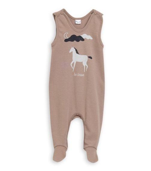 PINOKIO Horse Print Sleepsuit