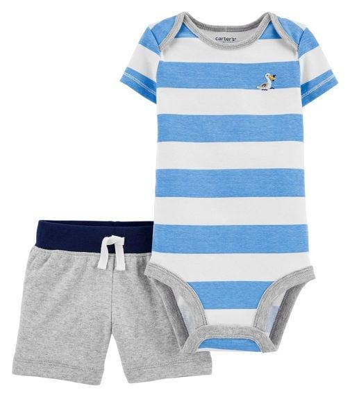 CARTER'S 2-Piece Striped Bodysuit And Short Set