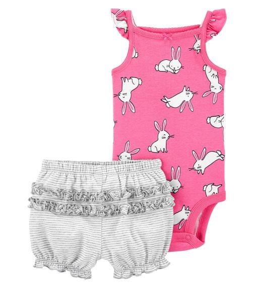 CARTER'S 2-Piece Bunny Bodysuit And Short Set