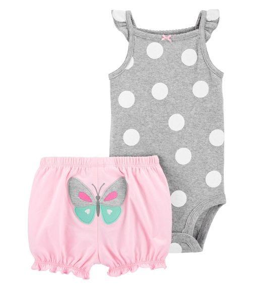 CARTER'S 2-Piece Polka Dot Bodysuit And Short Set