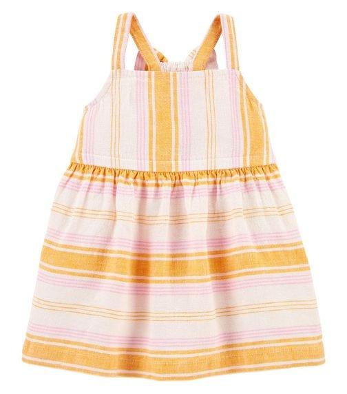 CARTER'S Striped Linen Dress
