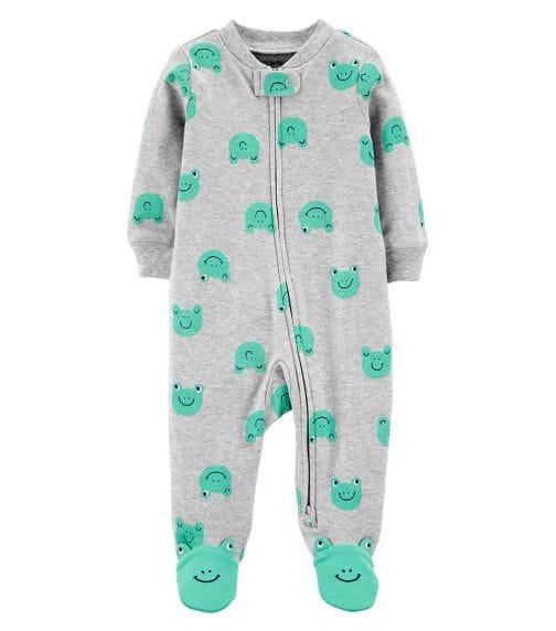 CARTER'S Frog 2-Way Zip Cotton Sleep & Play