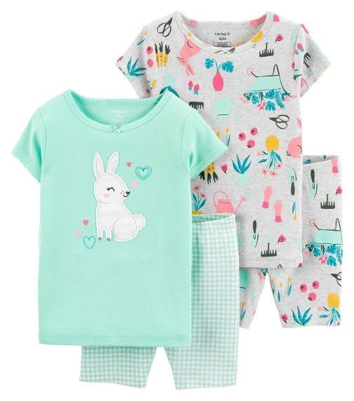 CARTER'S 4-Piece Bunny 100% Snug Fit Cotton PJs