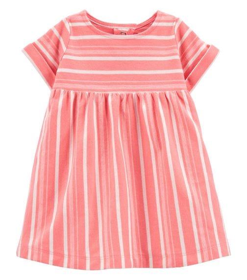 CARTER'S Striped Jersey Dress