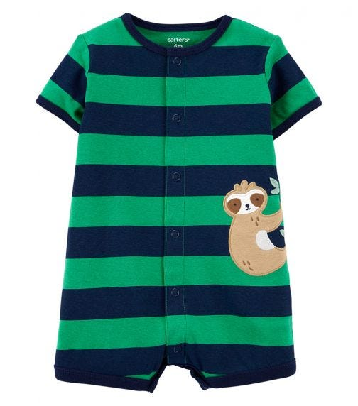 CARTER'S Sloth Snap-Front Romper