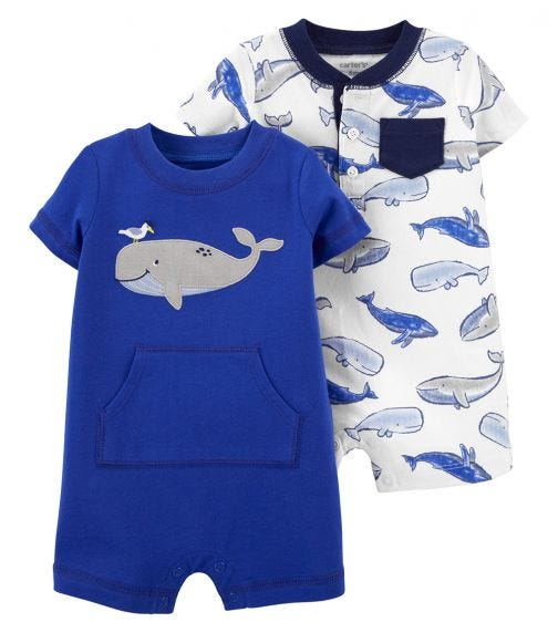 CARTER'S 2-Pack Snap-Up Rompers