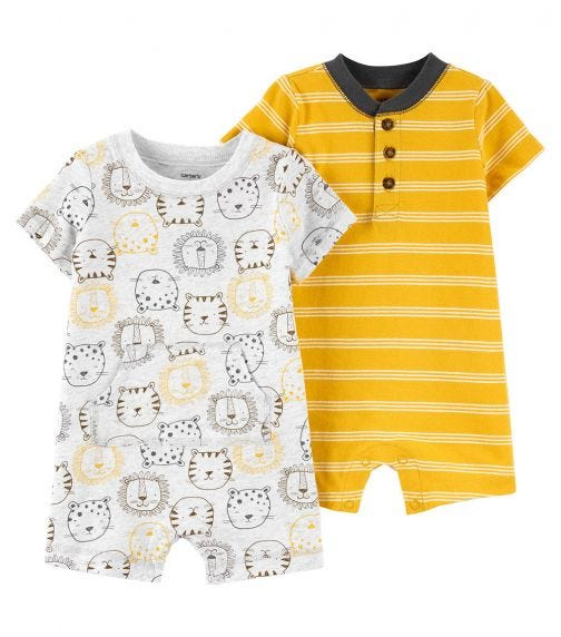 CARTER'S 2-Pack Cotton Rompers