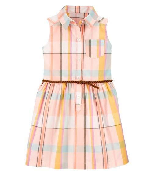 CARTER'S Plaid Shirt Dress