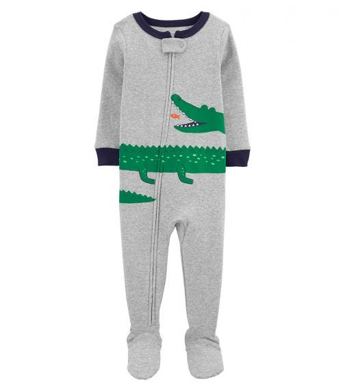 CARTER'S 1-Piece Alligator Footie PJs