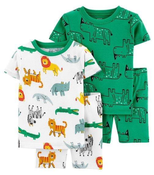 CARTER'S 4-Piece Safari 100% Snug Fit Cotton PJs