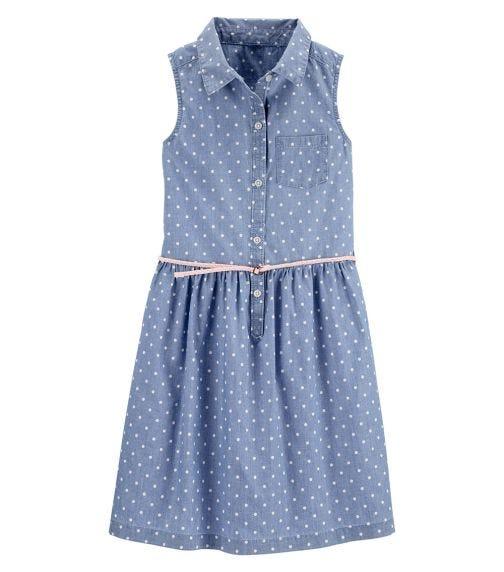 CARTER'S Chambray Shirt Dress
