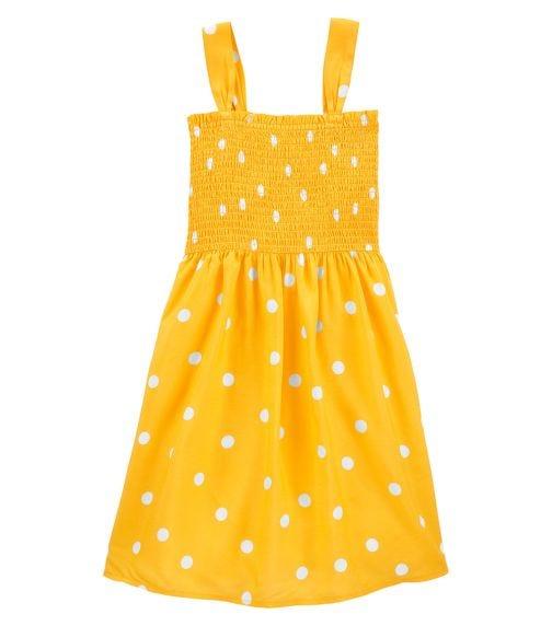 OSHKOSH Smocked Polka Dot Dress