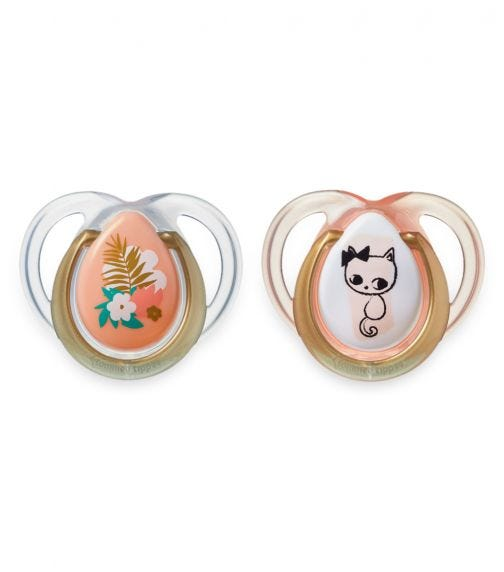 TOMMEE TIPPEE 2 Pack MODA Soother - Girl (0-6 Months)