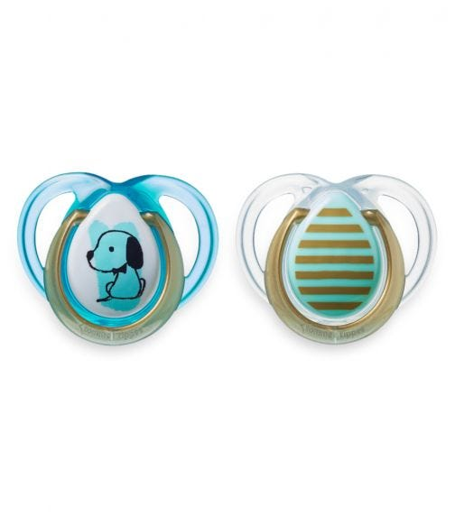 TOMMEE TIPPEE 2 Pack MODA Soother - Boy (0-6 Months)