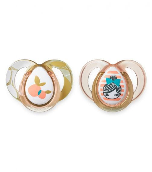 TOMMEE TIPPEE 2 Pack MODA Soother - Girl (6-18 Months)