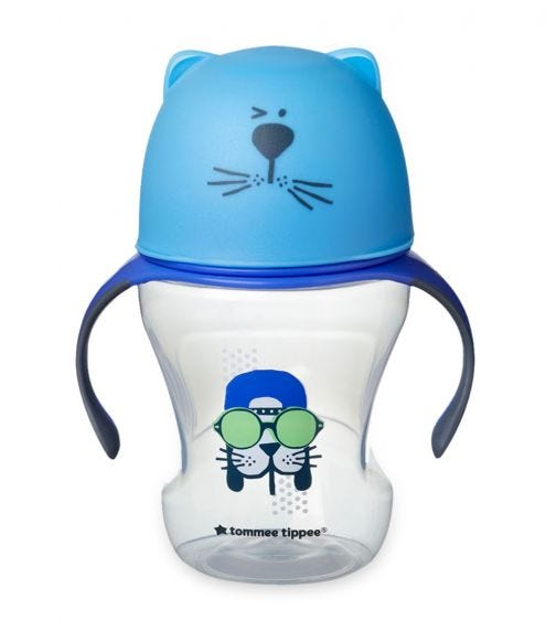 TOMMEE TIPPEE Soft Sippee Free Flow Transition Cup - Blue (230ML)