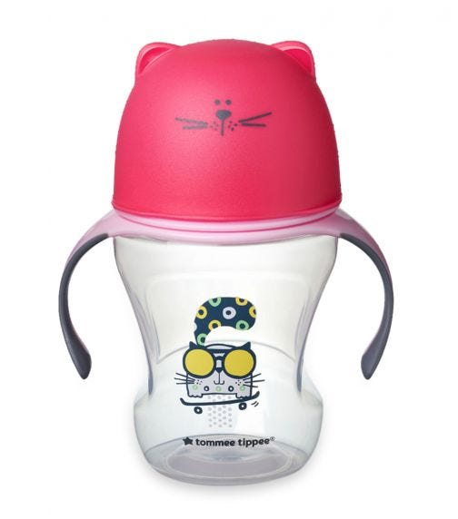 TOMMEE TIPPEE Soft Sippee Free Flow Transition Cup - Pink (230ML)