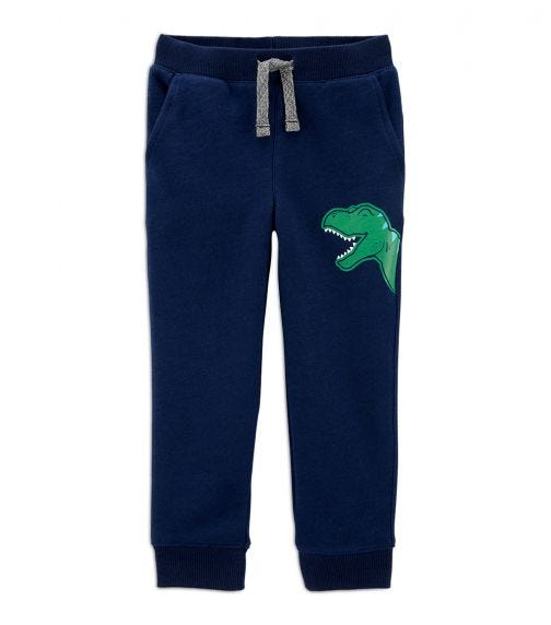 CARTER'S Dinosaur Pull-On Slob French Terry Joggers
