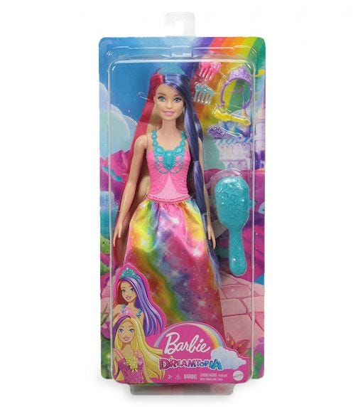 BARBIE Dreamtopia Long Hair Doll Asst 2