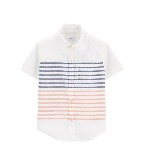 CARTER'S Striped Button-Front Shirt