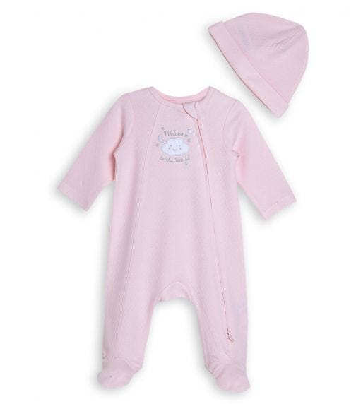 LITTLE ME New World Girl Romper With Footie And Hat