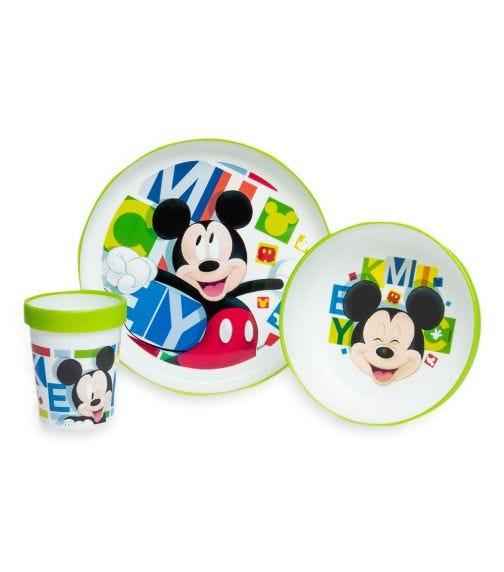MICKEY 3 Piece Premium Tableware Set - Mickey