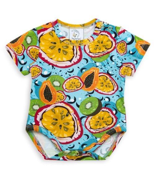 HEY POPINJAY Short Sleeve Bodysuit - Passion Fruit