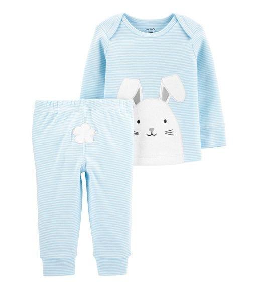 CARTER'S 2-Piece Easter Bunny Tee & Pant Set