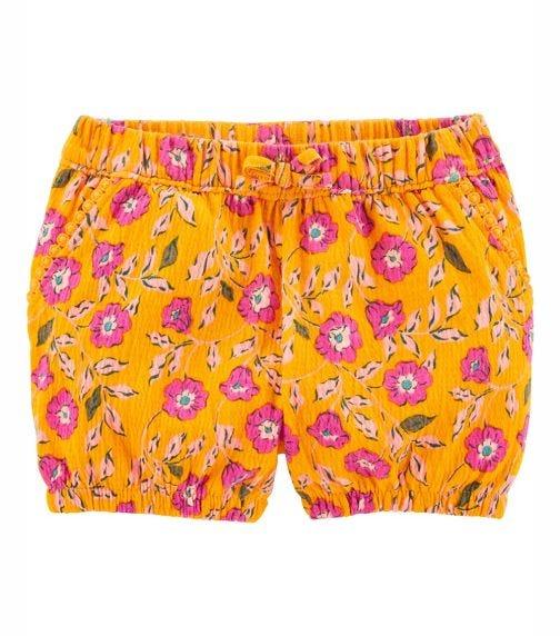 CARTER'S Floral Linen Bubble Shorts