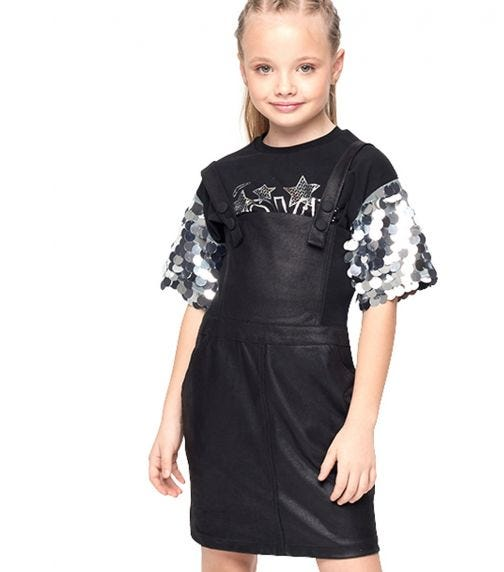 CHOUPETTE Leather Effect Pinafore