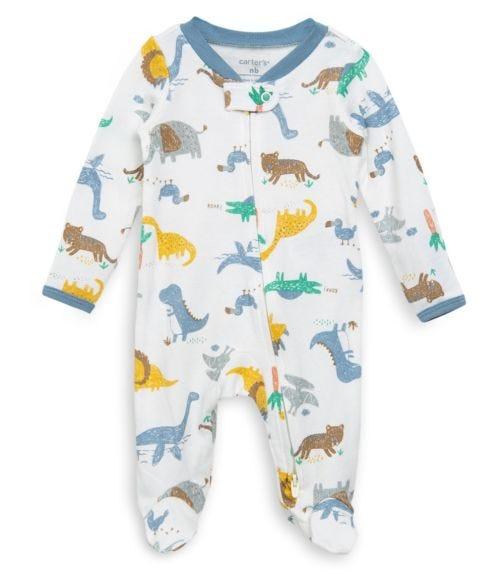 CARTER'S Dinosaurs 2-Way Zip Cotton Sleep & Play
