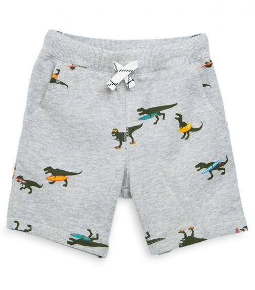 CARTER'S Dinosaur Pull-On French Terry Shorts