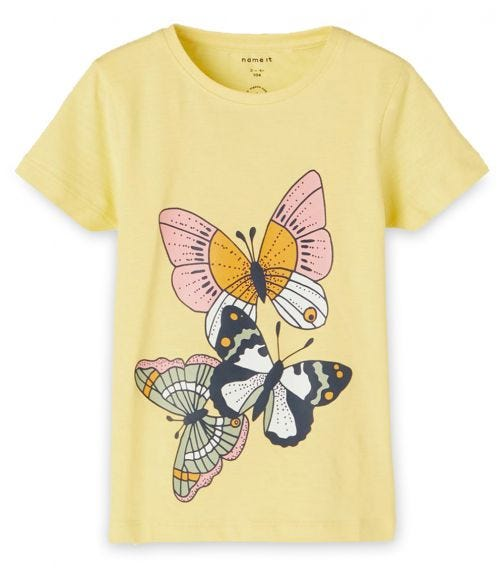 NAME IT Tri-Butterfly Top