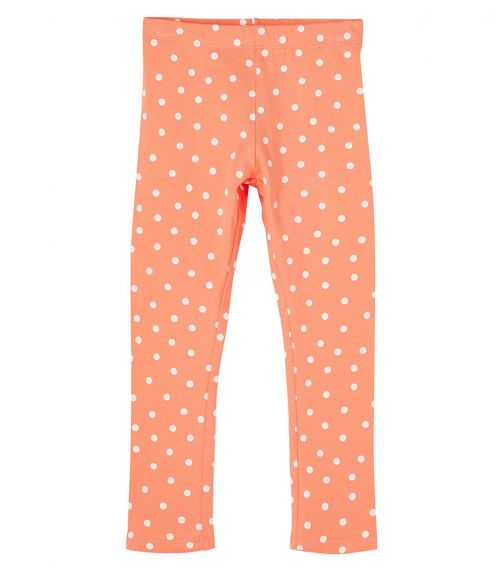 NAME IT Persimmon Dotted Cotton Leggings