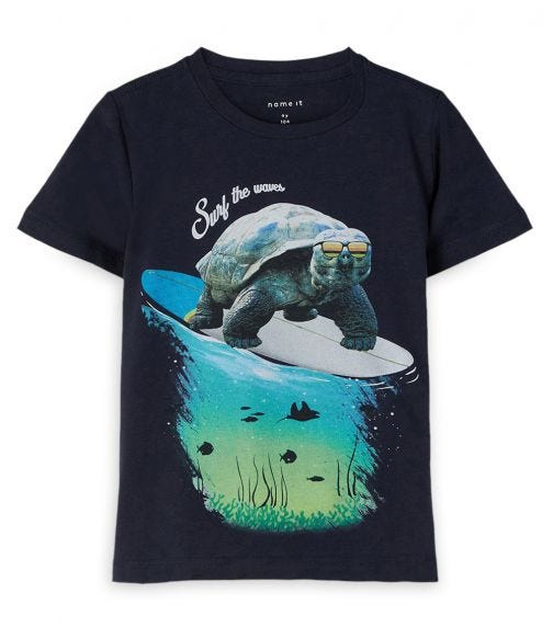 NAME IT Surf The Waves Turtle Top