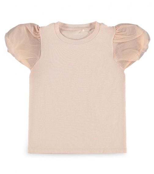 NAME IT Dusty Rose Puffed Sleeved Blouse