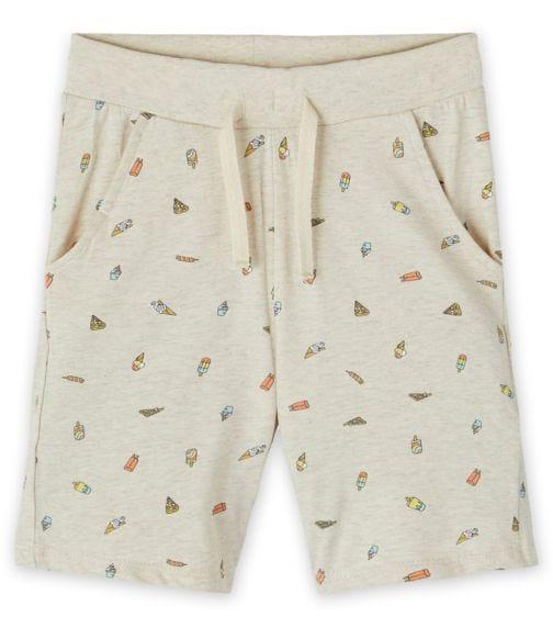 NAME IT Beige Ice Cream Print Sweatpants