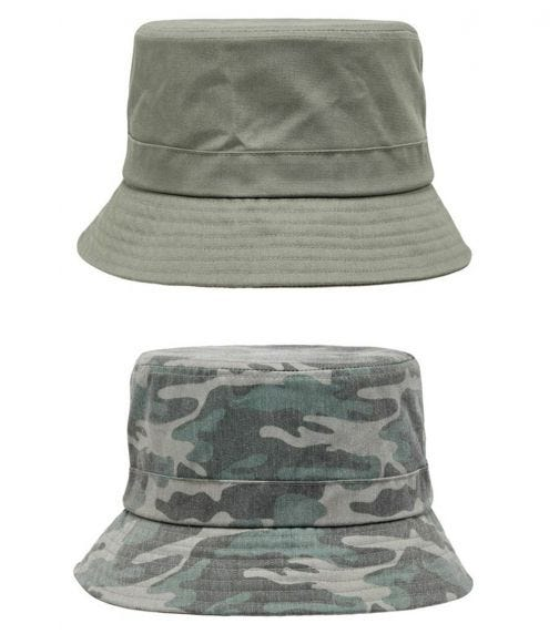NAME IT Army Greens Bucket Hat (2-Pack)