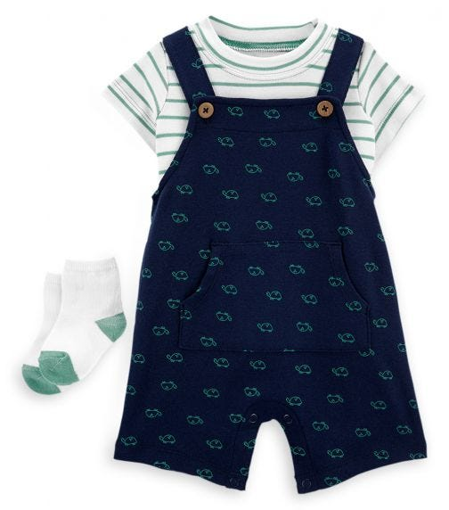 CARTER'S 2-Piece Turtle Tee & Overall Set